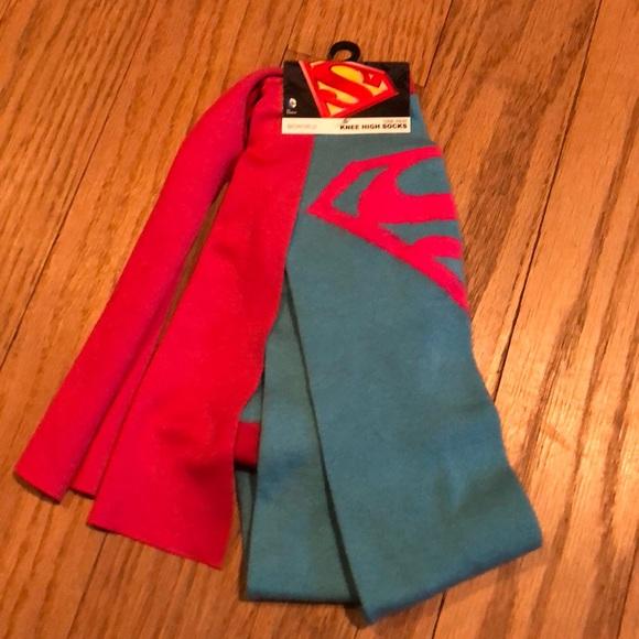 4922bd04a DC Comics SuperGirl Knee High Socks